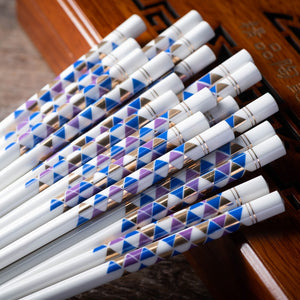 Porcelain Decoration Chinese Chopsticks (10 pairs)
