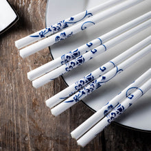 Load image into Gallery viewer, Blue China Luxury Chopsticks Set (10 pairs)