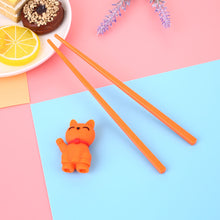 Load image into Gallery viewer, Cartoon Cat Children Training Chopsticks | Orange (1 Pair)