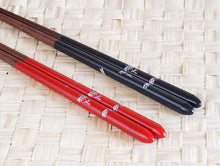 Load image into Gallery viewer, Japanese Style Dragonfly Wooden Chopsticks | Red (1 Pair)