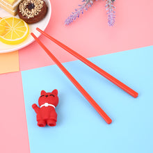 Load image into Gallery viewer, Cartoon Cat Children Training Chopsticks | Red (1 Pair)