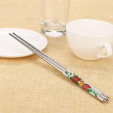 Load image into Gallery viewer, Chinese Decoration Stainless Steel Chopsticks (1 Pair)