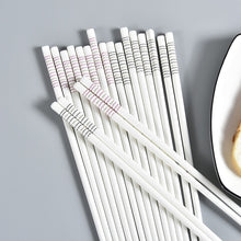 Load image into Gallery viewer, Bone China European Ceramic Chopsticks | Blue Stripe (5 Pairs)