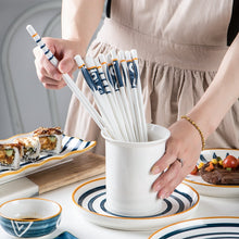 Load image into Gallery viewer, Bone China Porcelain Japanese Chopsticks (5 Pairs)