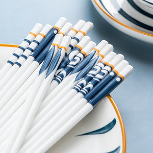 Bone China Porcelain Japanese Chopsticks (5 Pairs)
