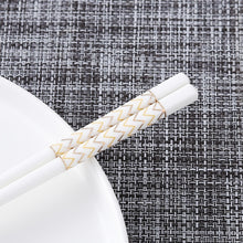 Load image into Gallery viewer, Bone Porcelain Chinese Ceramic Chopsticks | Zigzag (5 Pairs)