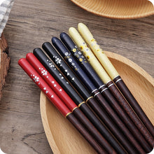 Load image into Gallery viewer, Japanese Cherry Wooden Chopsticks | Blue (1 Pair)