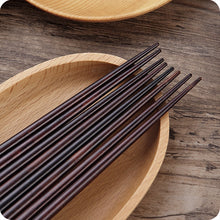 Load image into Gallery viewer, Japanese Cherry Wooden Chopsticks | Black and Yellow (2 Pairs)