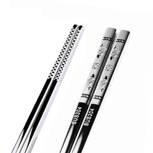 Load image into Gallery viewer, Anti Skid Stainless Steel Koi Chopstick (1 pair)