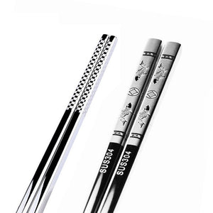 Anti Skid Stainless Steel Koi Chopstick (1 pair)