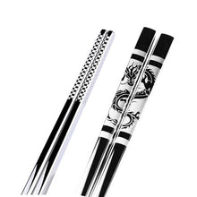 Load image into Gallery viewer, Anti Skid Stainless Steel Dragon Chopstick (1 pair)