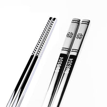 Load image into Gallery viewer, Anti Skid Stainless Steel Fortune Chopstick (1 pair)