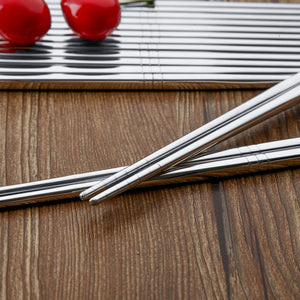 Stainless Steel Metal Chopsticks (5 pairs)