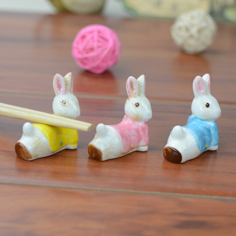 Cute Rabbit Ceramic Rests (3 pcs)