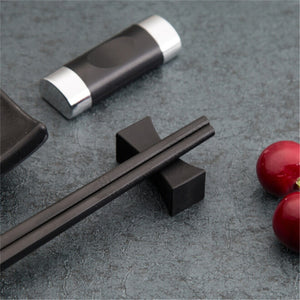 Stainless Steel Black Chopstick Holder (1pc)