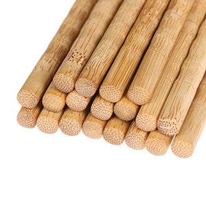 Simple Bamboo Wood Chopsticks (3 pairs)