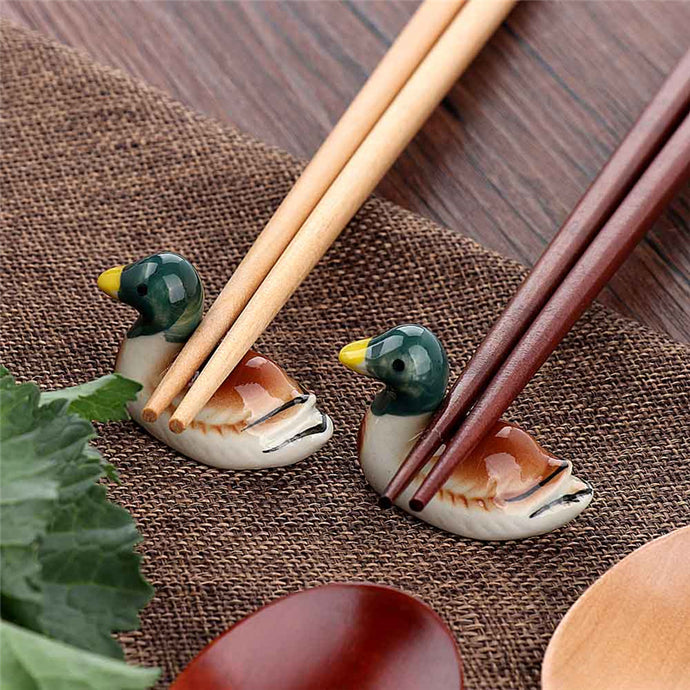 Duck Shape Ceramic Chopsticks Rests (1 pc)