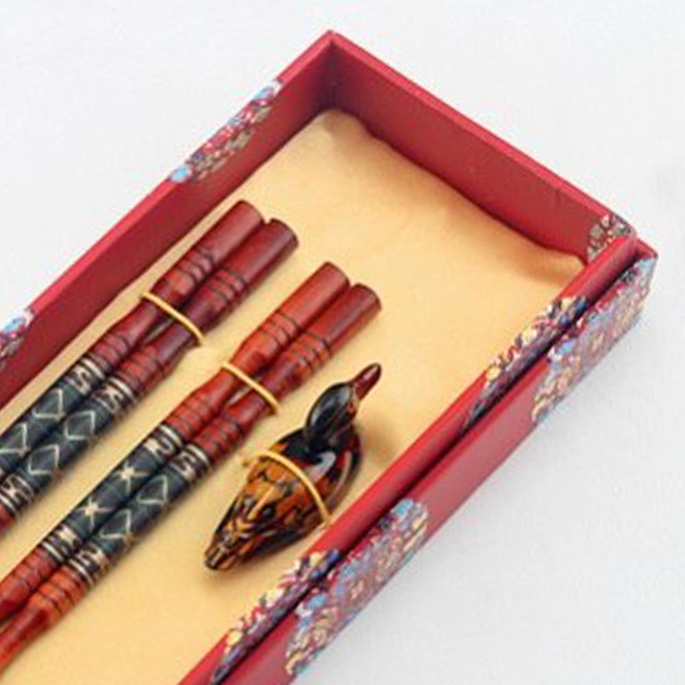 Duck Inspired Chopstick and Holder Luxury Gift Set (2 pairs)