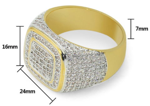 mens diamond statement ring