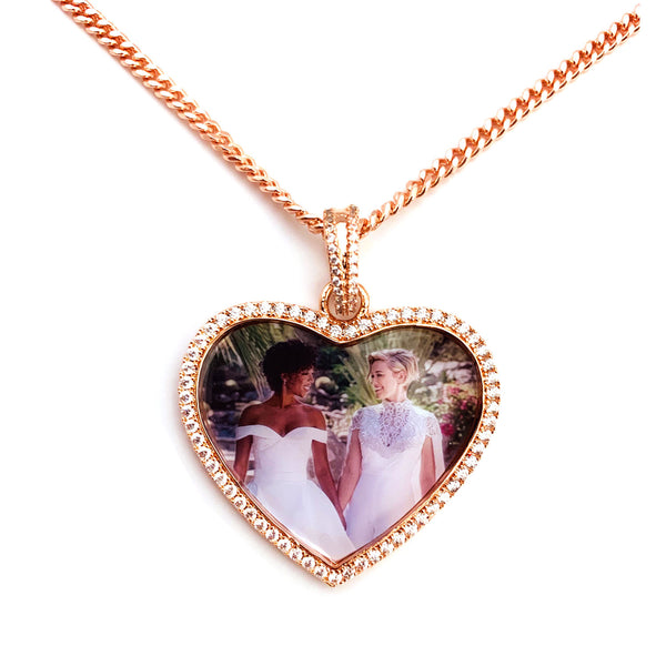 Personalised Photo Necklace engraved