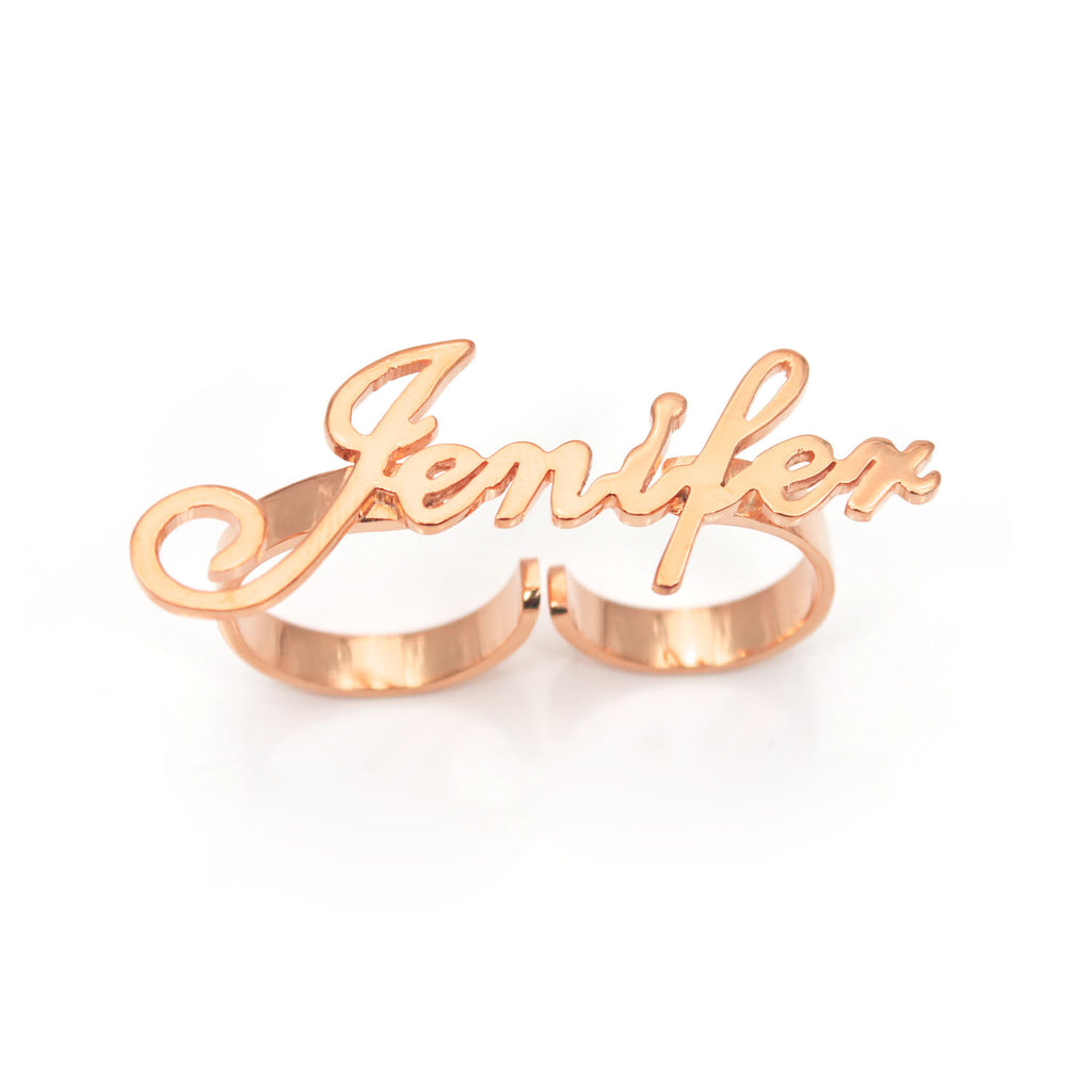 Two Finger Name Rings
