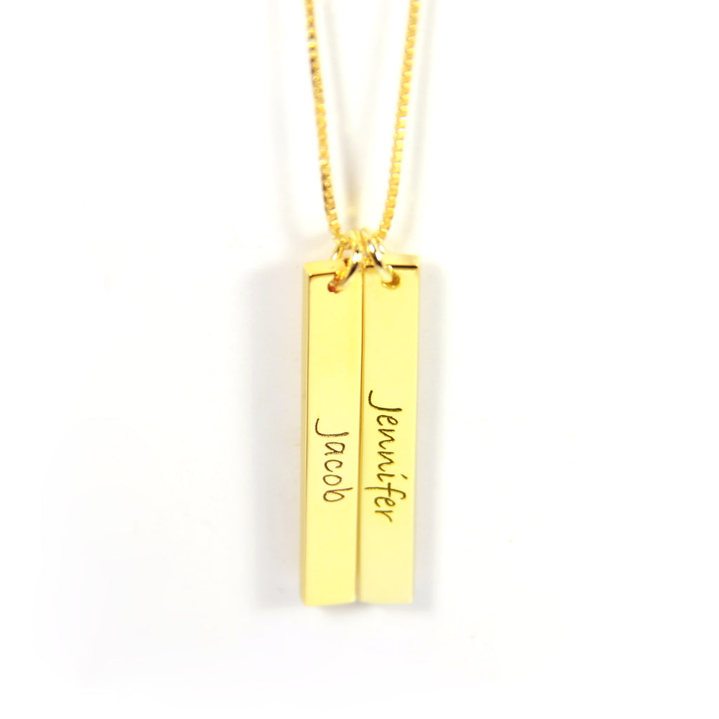 Vertical Name Bar Necklace