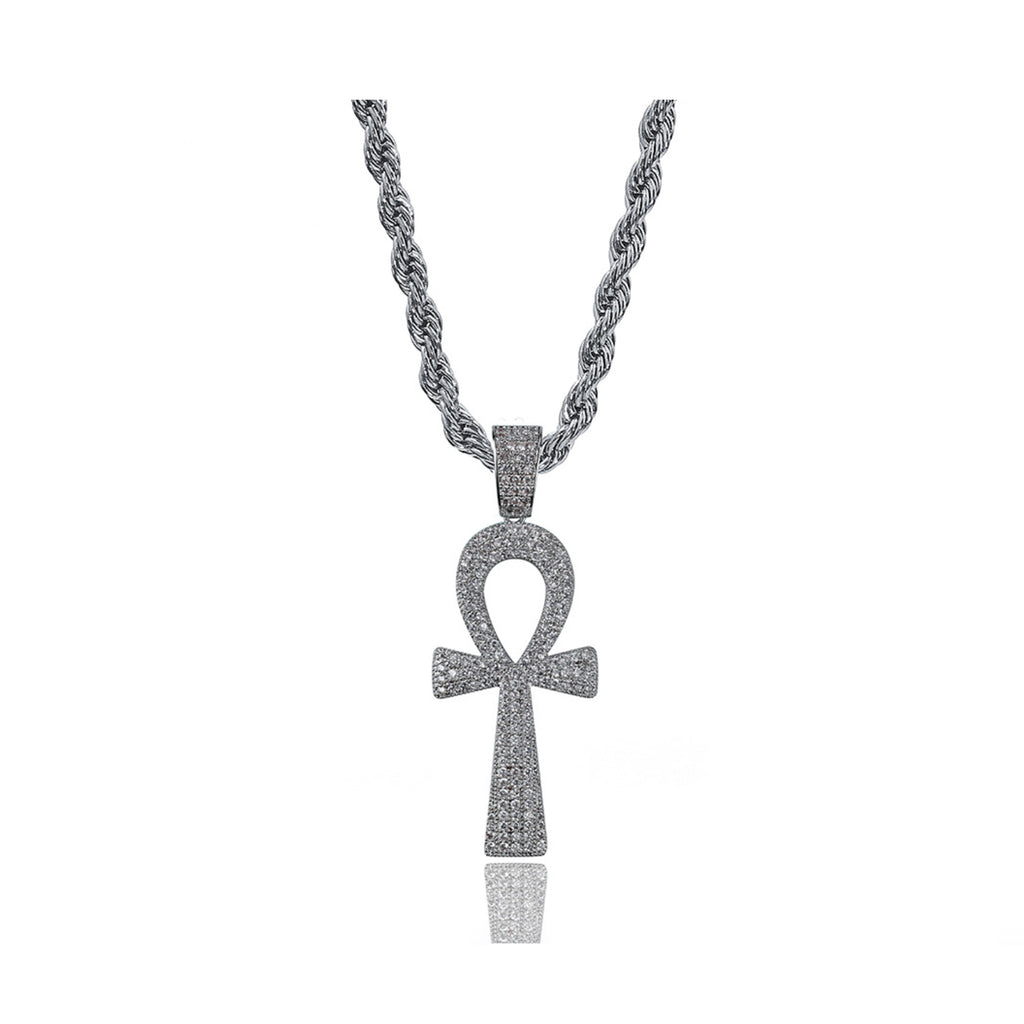 ankh necklace diamond