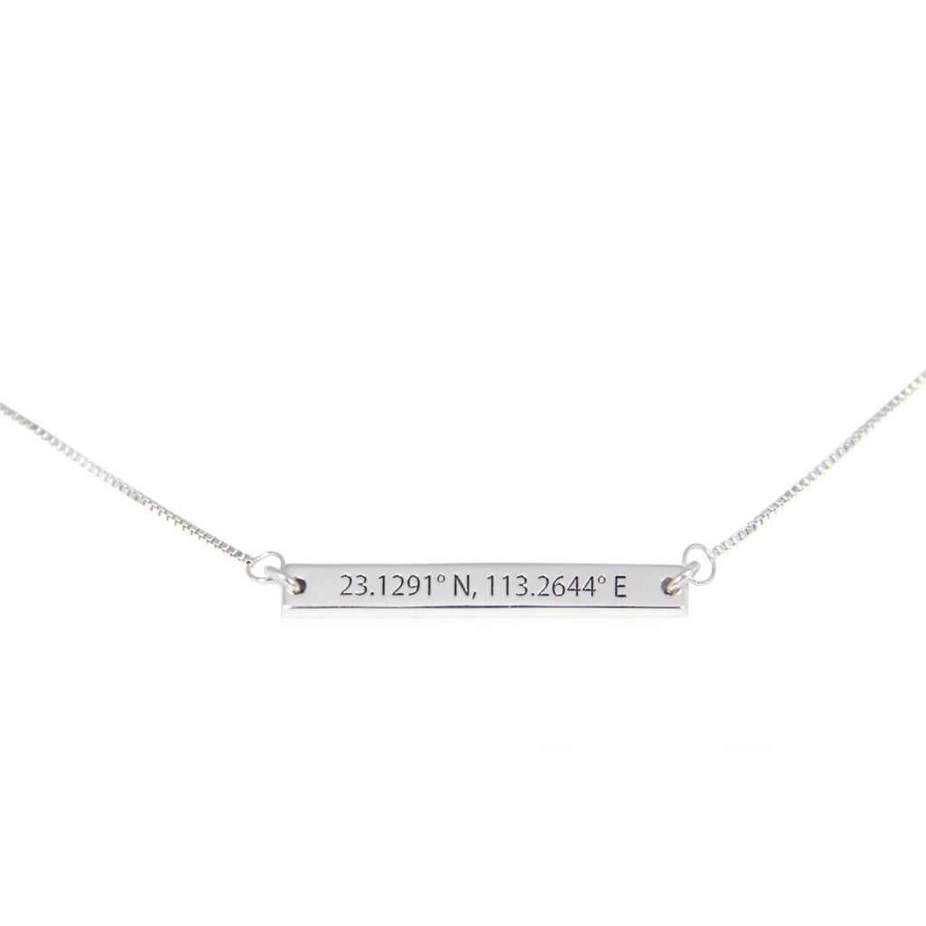Horizontal bar coordinates bar necklace