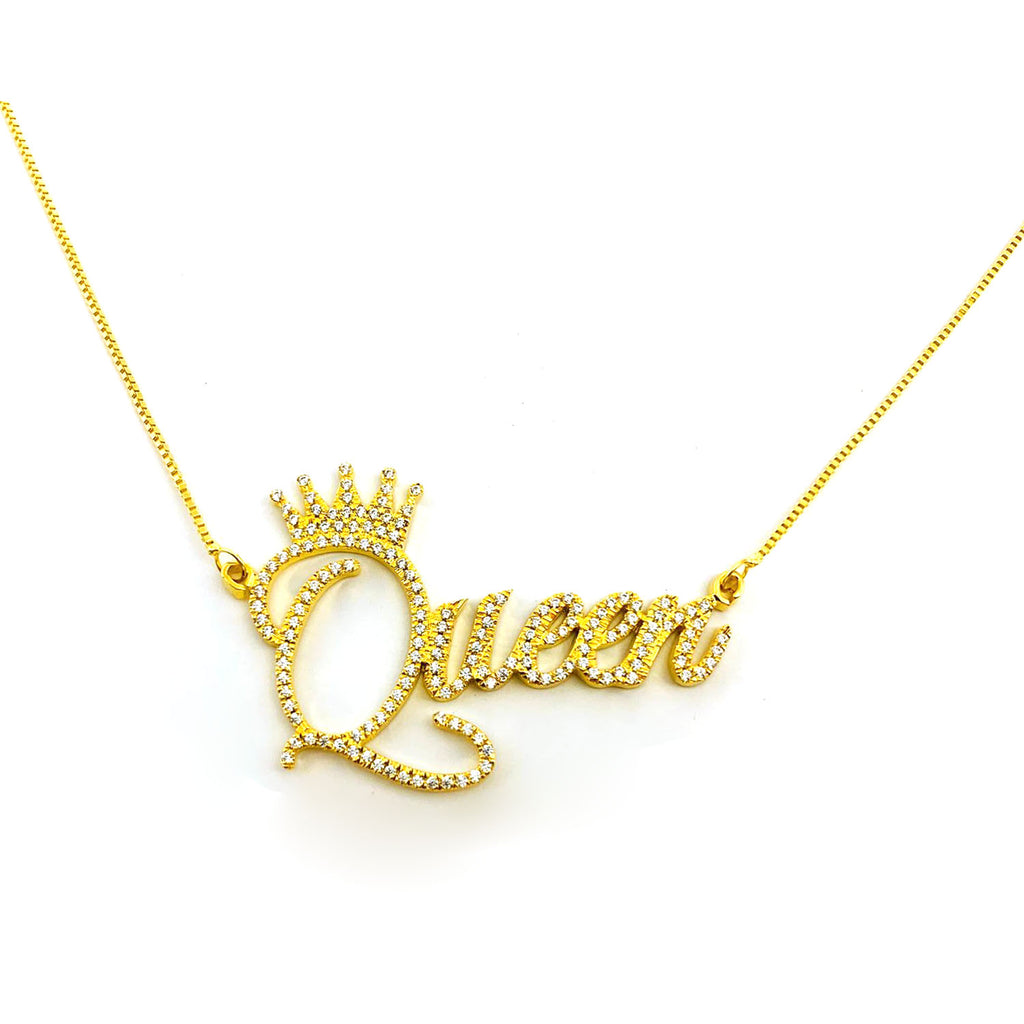 Custom Bling Name Necklace