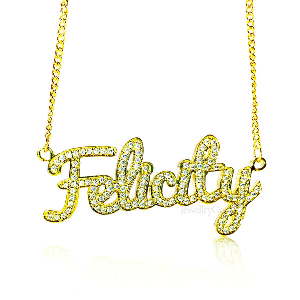 Custom Ice Out Nameplate Necklace