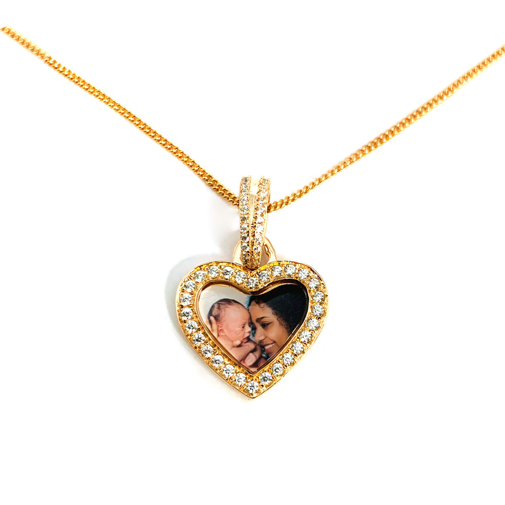 Memory Necklace with Picture diamonds