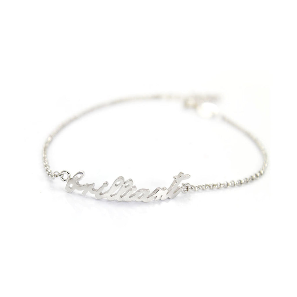 Personalized Silver Bracelets with Name on it