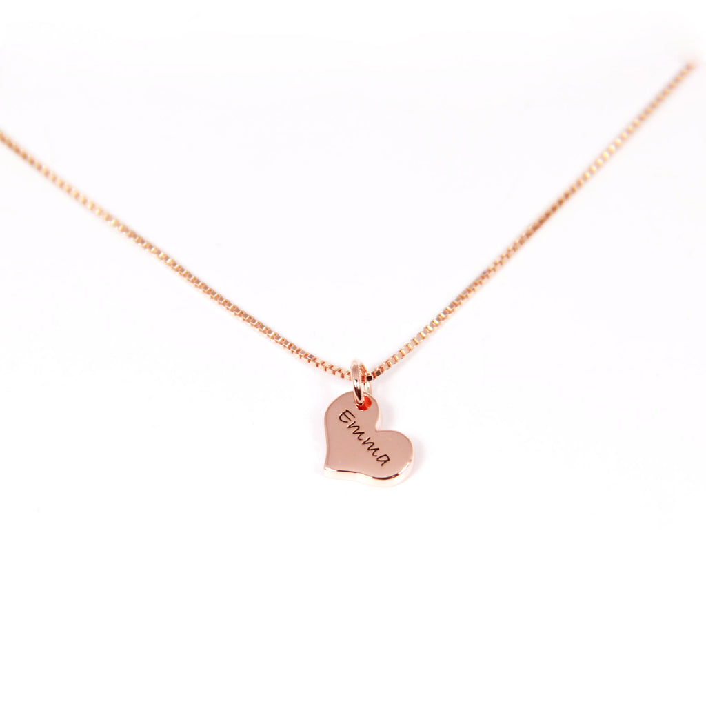 double vertical bar with heart charm