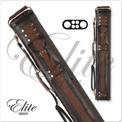 Elite Classic Leather Hard Cue Case 2x4 ECC24