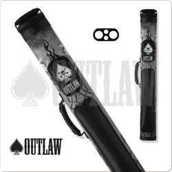 Outlaw Hard Cue Case Black Tire Tread OLB22A 2x2