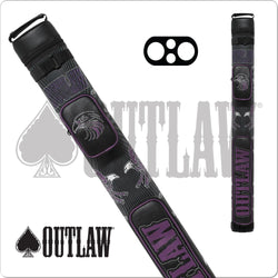 Outlaw Hard Cue Case Stitch Purple Eagle OLB22G 2x2