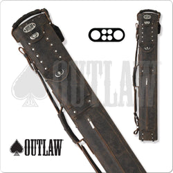 Outlaw Hard Cue Case Cowboy Brown Leather OLCCB01 2x4