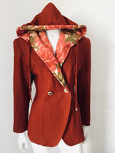 Hooded Blazer Floral Blazer Jacket