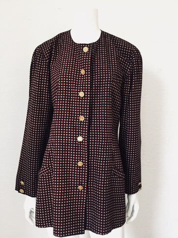 Char Button Down Blazer Dress