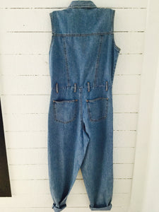 Vintage Sleeveless Denim Jumper