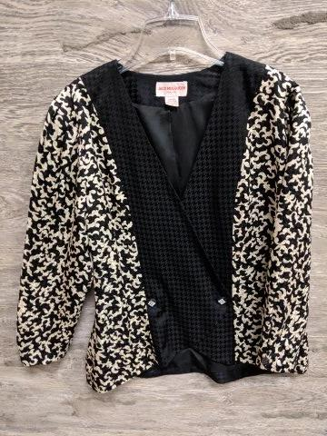 Jack Mulqueen Black and White Blazer Jacket