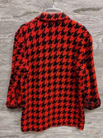 Claude Red and Black Houndstooth Blazer