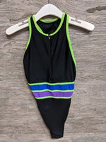 It Figures Black and Green One Piece Swimsuit