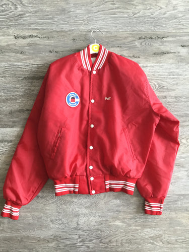 Red PAT Varsity Jacket