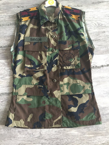 This or That Long Army Vest