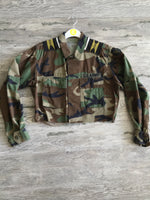 This or That Crop Tribal Army Jacket