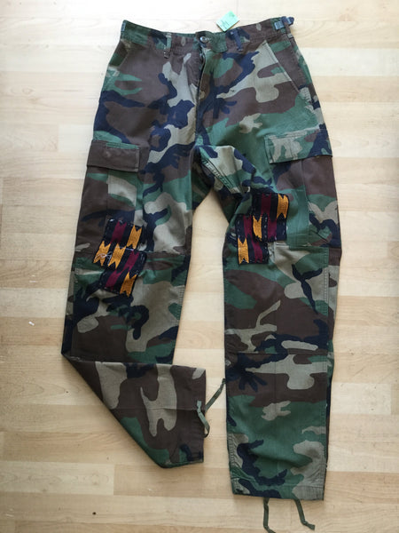 This or That Reworked Tribal Camo Pants