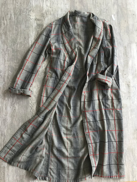 Plaid Vintage Duster
