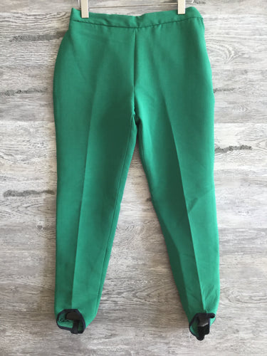 Money Green High Waist Stirrup Pants