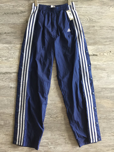 Adidas Navy Snap Up Athletic Pants